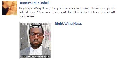 Sample of Forwarded Hate Mail and Comment to original sender
