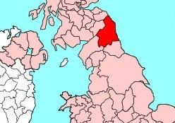 Map location of Northumberland