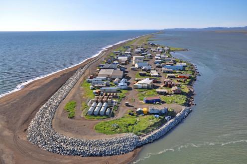 Kivalina, on the edge of the Chukchi Sea.