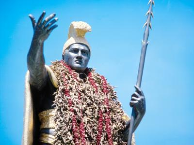 Over-king of Hawaii, Kamehameha 'the Great' ruled at the time Cook's ships came to the islands