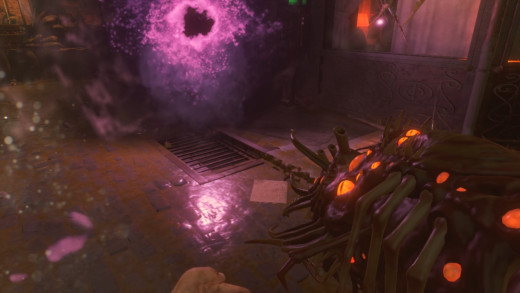 The Apothicon Servant shoots black holes, which suck in zombies and other creatures.