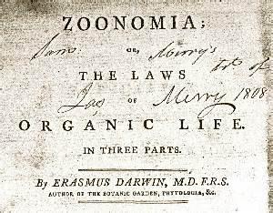 Zoonomia - Charles Darwin's Bible