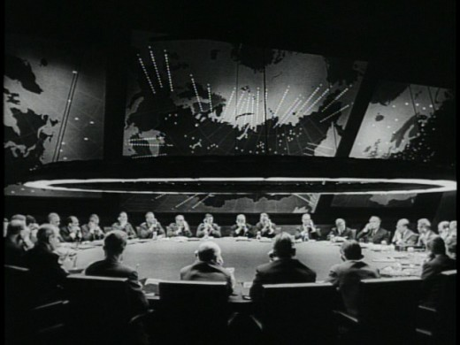 Dr. Strangelove, The War Room and The Big Board.