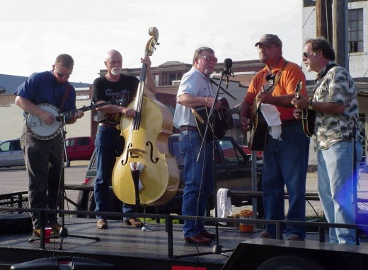 Performing in Franklinton, NC. left to right: Donnie, Raymond, Tommy, Gary, Carl