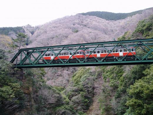 箱根登山鉄道・早川橋梁 Hakone Tozan Railway Hayakawa Bridge