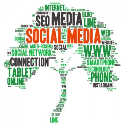 """Social Media Tag Word Cloud Background"" by Sujin Jetkasettakorn courtesy of 'freedigitalphotos.net'"