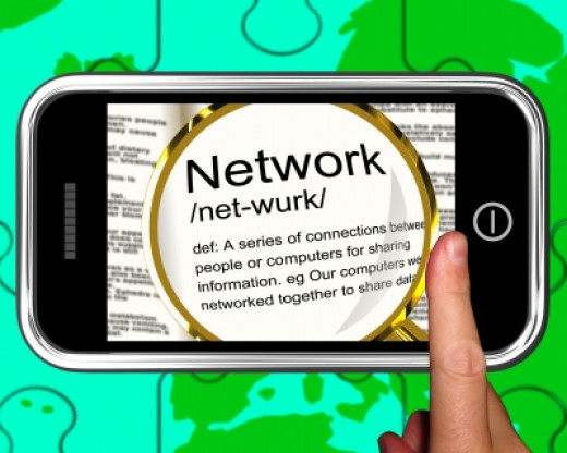 """Network Definition On Smartphone Showing Networking"" by Stuart Miles courtesy of 'freedigitalphotos.net'"