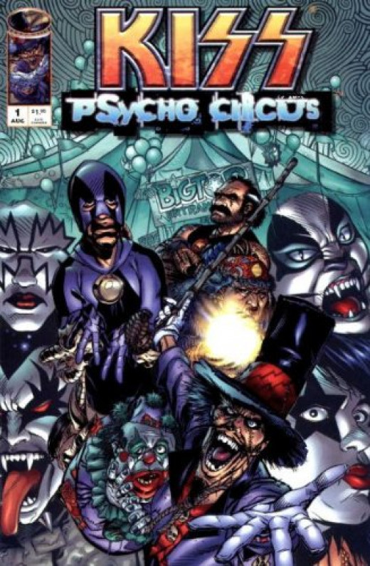 "Issue #1 of ""KISS: Psycho Circus"" published by Image Comics"