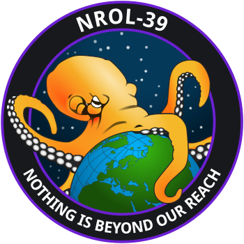 The NROL-39 Spy Satellite logo - launched in 2013