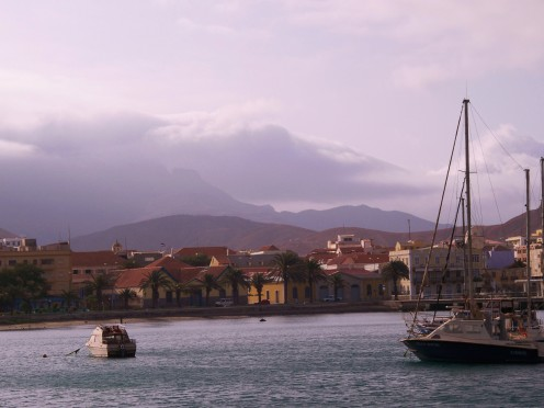 Picturesque Mindelo is a relaxed, tropical town
