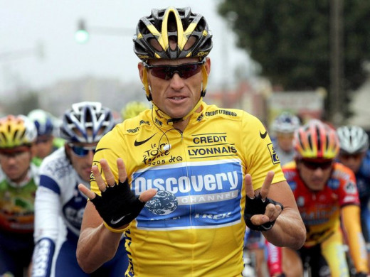 Lance kindly shows us how many Tour victories he lost due to his cheating