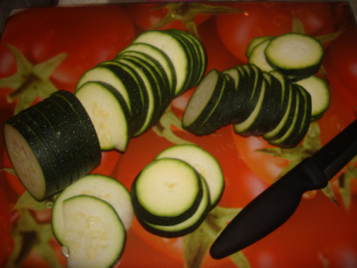Courgettes or zucchini