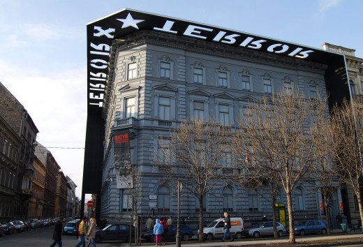 The renovated house of Terror, today a museum dedicated to the totalitarian past of Hungary​.
