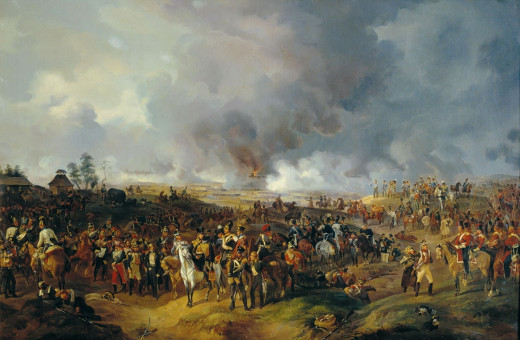 This painting depicts the battle of Leipzig 25 years after the supposed battle of Karánsebes. The Napleonic wars were ridden with friendly fire as well, with whole platoons reportedly slaughtered by their fellow countrymen.