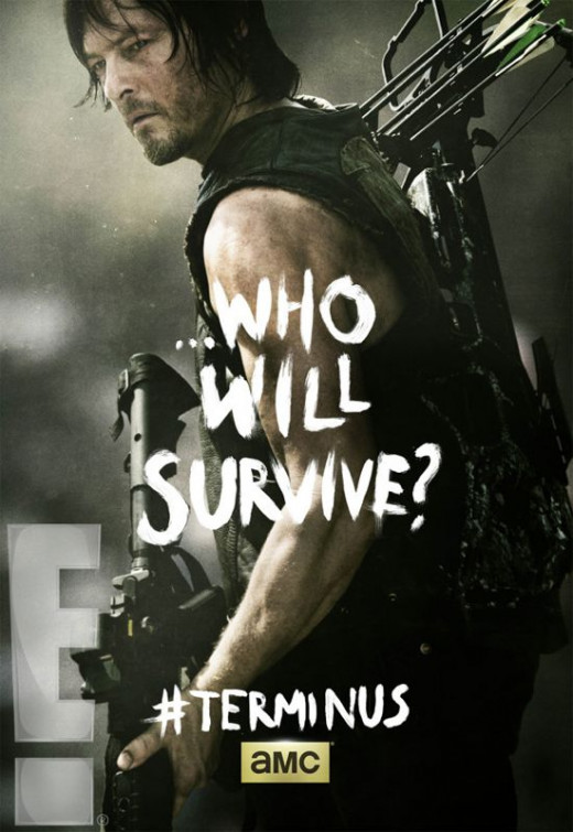 The ultimate question of the series: Who will survive? Here we see Daryl, who is always carrying a 100 pound crossbow. My money's on him.