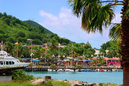 Marigot, St. Martin, is more festive during good weather.