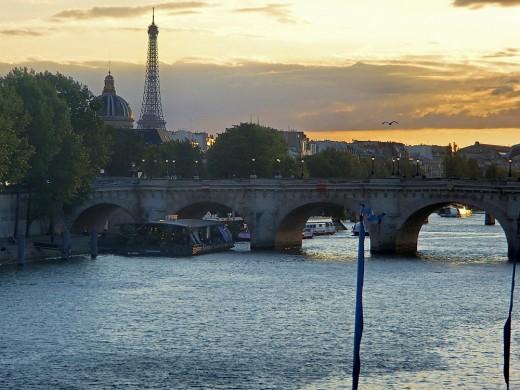 Paris at sunset.