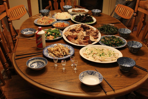 """A """"Feast Day"""" in China, which is similar to Thanksgiving."""