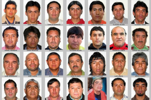 These are the real 33 men trapped in the mine.