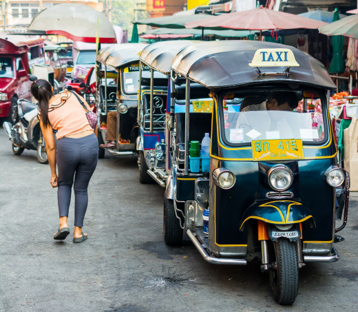 Tuk tuks are Chiang Mai's version of a taxi