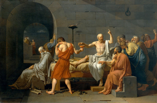 The Death of Socrates, oil painting by Jacques-Louis David, from Catharine Lorillard Wolfe Collection, Wolfe Fund, 1931