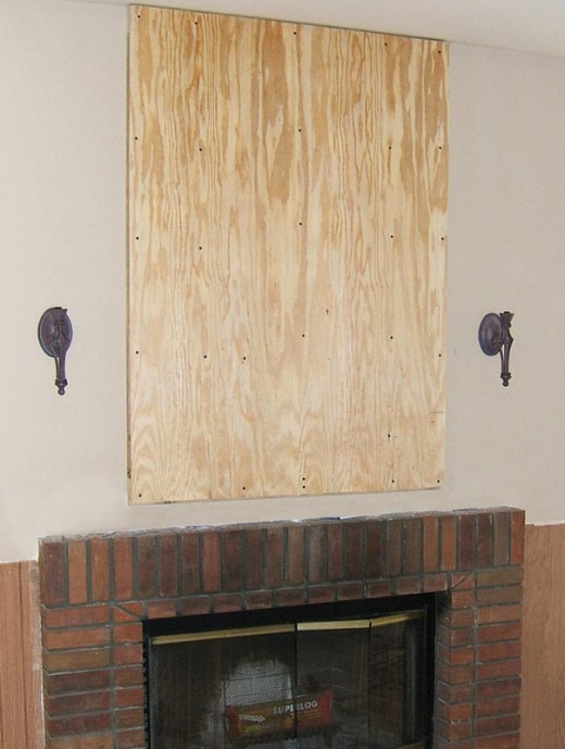 Stone Veneer Fireplace Installation Step 3 - Installation of Sheathing (If Performing Step 2)