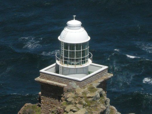 The lighthouse at Cape Point where the two oceans; Atlantic and Indian meet up