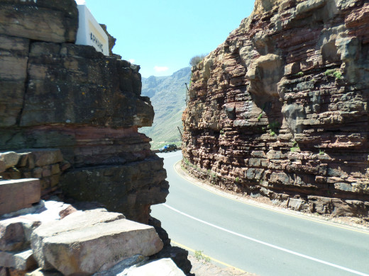 Chapman's Peak Drive, a narrow little road used as a toll road