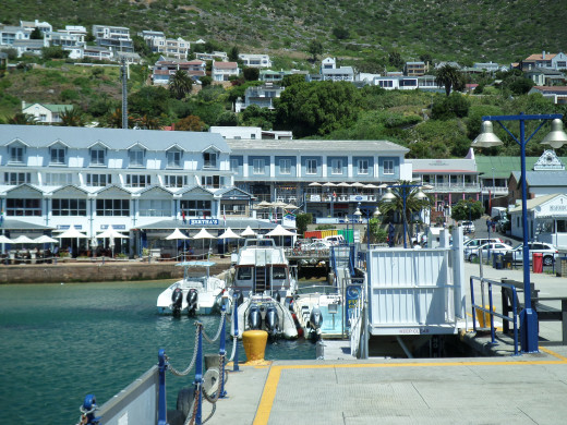 Simon's Town on the Pier across from the Cape Navy base.
