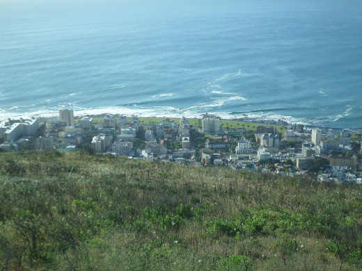 Cape Town from the top of Signal Hill