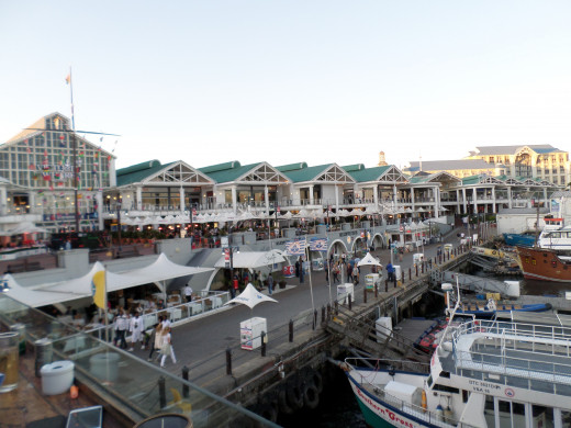 The V&A Waterfront, Cape Town, has a great atmosphere and it is a nice place to have a drink and do some shopping.