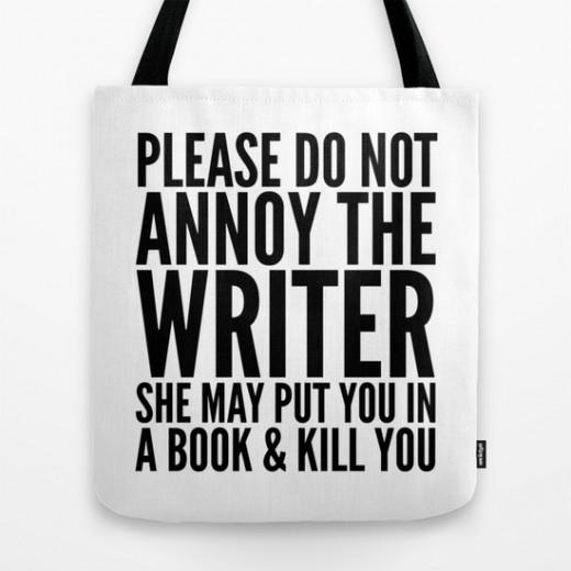 To remind those around the writer