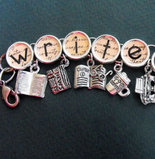 A charm bracelet for writers