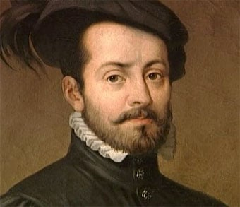 This is a portrait of Hernán Cortés.