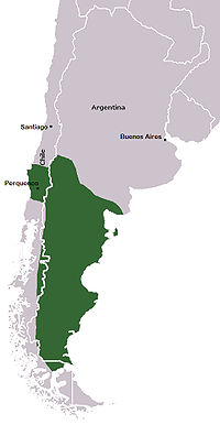 This shows the area of land that was being fought over during the Occupation of Araucania.