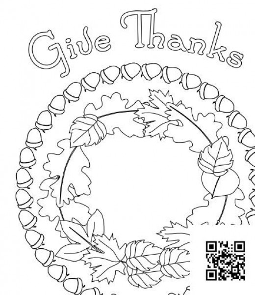 Give Thanks Poster Coloring Sheet