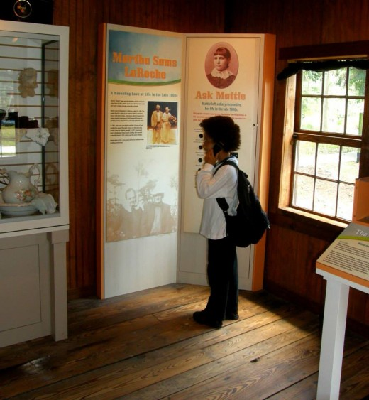 "Nicholas ""talking to Martha"" and getting information on how the Sams family lived."