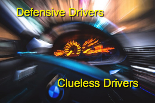 Some drivers are clueless about the attentiveness safe drivers maintain.