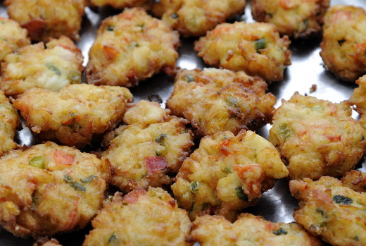 Small crab cakes are a delightful party or snack food