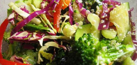 Nutritious Raw Vegan Salad