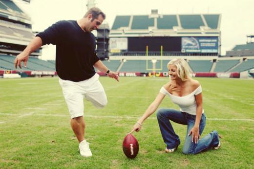 Philadelphia Eagles long-snapper Jon Dorenbos and his wife Julie