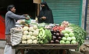 A vegetable vendor