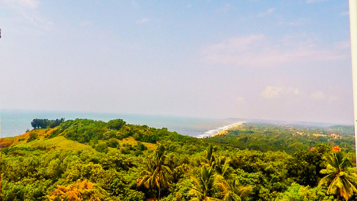 View from the top of Lighthouse Aguada