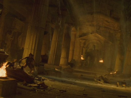 For a film about tomb raiding, there's surprisingly little seen in the film...