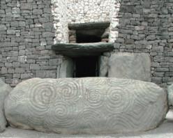 Newgrange stone in Ireland