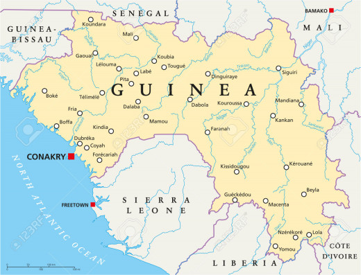 Map of Guinea Conakry