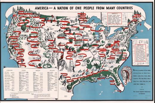 America – A Nation of One People from Many Countries The Council Against Intolerance in America: 1940 Annotated by Langston Hughes.