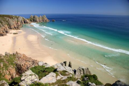 Cornwall is known for its beautiful golden beaches and rocky shore.