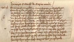 Medieval Cornish literature.  Opening verses of Origo Mundi, written by an unknown  monk.
