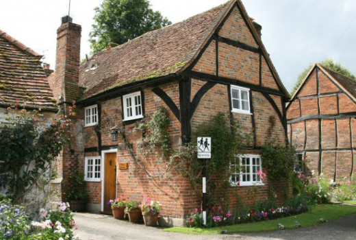 Sleepy Cottage Turville, home of the Sleeping girl of Turville, my aunt, Ellen Sadler, and used for filming the Vicar of Dibley TV series